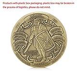 zijianZZJ Gedenkmünze, seltene vergoldete Auflegen der gesamten Rüstung Gottes Gedenkmünzen der Armee