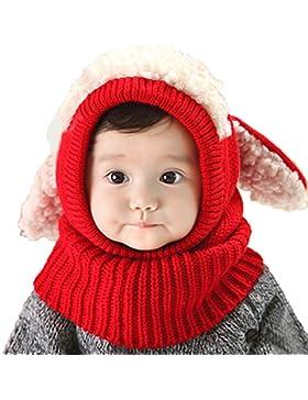 Beetest Bambino Carino Coniglio Orecchie Stile Inverno Caldo Maglieria Cappuccio Sciarpe Cappelli Cappellini per...