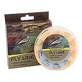 Maxcatch Fliegenschnur gewichtet schwimmend 100 Fuß Orange/Blau Fliegenfischen