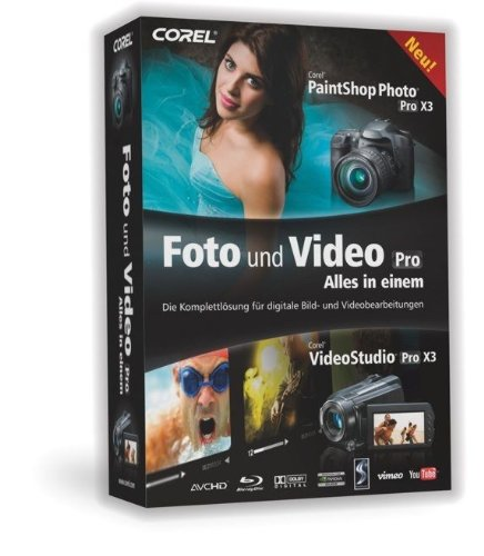 Corel PaintShop Photo Pro X3 - Video Studio Pro X3 Bundle