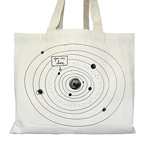 Tote bag Urbain - Soufflet et Poches intérieures - Toile épaisse de coton Bio - You are Here