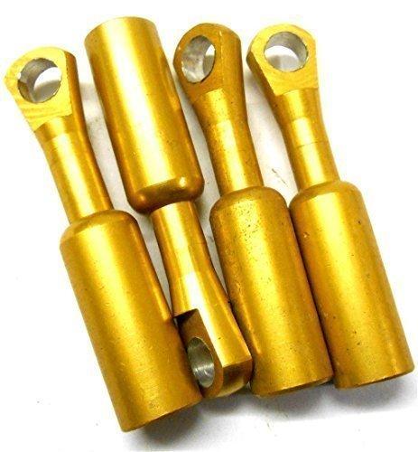L11107b 1/8 Maßstab Ziehung Arme Verbindungen Gold Orange x 4 58mm Spurstangenköpfe M3