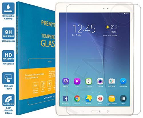 PREMYO Panzerglas Schutzglas Bildschirmschutzfolie Folie kompatibel für Samsung Galaxy Tab A 9.7 Blasenfrei HD-Klar 9H Gegen Kratzer Fingerabdrücke