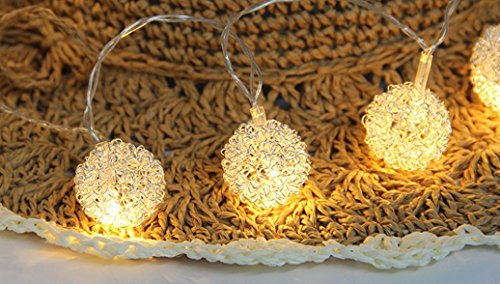 DOLDO Fairy String Licht Metall Ball geformt Vorhang Lamp Party Hochzeit Outdoor Dekor (Splitter)