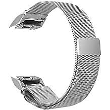 Fintie Bracelet Samsung Gear S2 - en Acier Inoxydable sport poignet en métal Replacement Bracelet Milanais avec fermeture magnétique pour Samsung Gear S2 SM-R720 / SM-R730 Smart Watch, Agrent