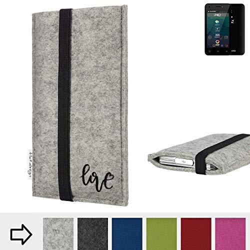 flat.design Handy Hülle Coimbra für Allview P42 personalisierbare Handytasche Filz Tasche Love Liebe