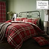 Catherine Lansfield Kelso Cotton Rich Double Duvet Set Red