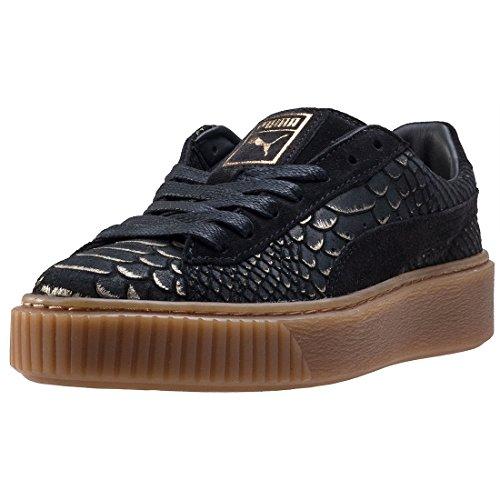 Puma Basket Platform Exotic Skin 36337701, Turnschuhe Gold