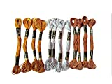 #3: Anchor Stranded Cotton Metallic Skeins Fast color-Assorted-4652 (25 Skiens, 25 x 8m)