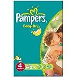 Pampers Baby Dry taille 4 (7 à 18 kg) Pack Essentiel Maxi 2x45 par paquet