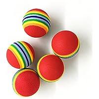 Ecloud Shop 5 juguete gato pelota de colores tampones de bolas de espuma de juguete gato de pelota de la X mascotas