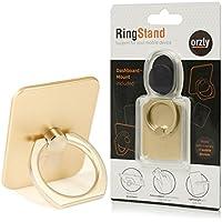 Orzly® RingStand - Supporto per SmartPhone Regolabile Multi-Angolo a 360 Ripiegabile - Multi Posizione Orizzontale o Verticale - Stand - Anello Cavalletto Universale per Smartphone / Tablet / Navigatori Satellitari - ORO