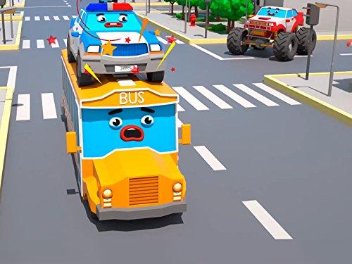 Polizeiwagen und Bus (Educational Kinder Spiele)