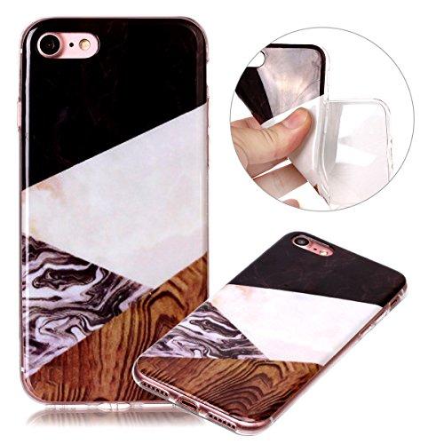 Custodia iPhone 7 / 8 - Cover in Silicone TPU - Surakey iPhone 7 Custodia Oro Rosa Slim Ultra Sottile Gomma Morbida Gel Case 3D Modello di Colorate Antigraffio Antiurto Protezione Posteriore Caso Fles Modello#15