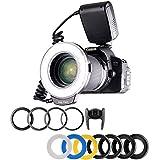Ring Flash per Canon Nikon Pentax SLR, 48 Macro LED Anello Flash RF-550D include Anello di...