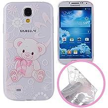 Silingsan Funda de Silicona para Samsung Galaxy S4 Carcasa de Caucho Gel TPU Soft Slim Silicone Case Cover Funda Protectora Carcasa Ultra Delgado Funda Blanda Flexible Caja Anti Rasguños Anti Choque - Oso Lindo