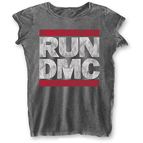 RUN DMC Rock Icon Premium Damen Vintage T-Shirt - Logo (L)