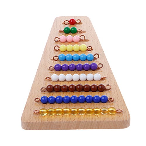 MiSha Juguete de matemáticas de Escalera de Cuentas, Montessori matematicas Juguete de Madera Montessori Juguetes educativos