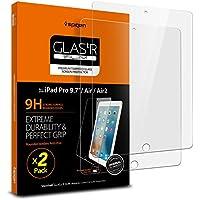 [2 Stück] iPad 9.7 Zoll 2018 / 2017 / iPad Air / Air 2 / Pro 9.7 Schutzfolie, Spigen® 0.3mm Folie, Panzerglas Folie, Displayschutzfolie Hartglas Gehärtetem Glas DisplayPanzerglas (044GL20339)