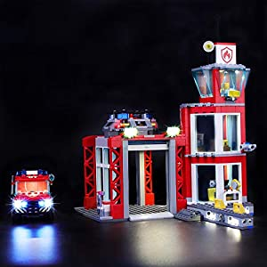 LIGHTAILING Set di Luci per (City Caserma dei Pompieri) Modello da Costruire - Kit Luce LED Compatibile con Lego 60215… 0716852279845 LEGO