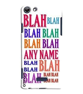 Omnam Printed Blah Blah On Full Case Designer Back Cover Case for Micromax Selfie 3 Q348