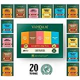 VAHDAM, Assortimento di tè Chai | 5 tè, 4 bustine di tè piramide ciascuno | India's Original Masala Chai, Sweet Cinnamon Chai, Cardamom Chai, Earl Grey e tisana speziata alla Chai