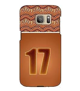Fuson Designer Back Case Cover for Samsung Galaxy S7 Edge :: Samsung Galaxy S7 Edge Duos :: Samsung Galaxy S7 Edge G935F G935 G935Fd (Roman Number 17 theme)
