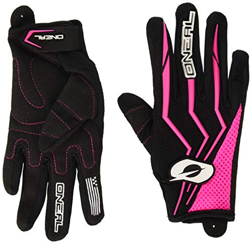 O\'Neal Element Damen MX Handschuhe Schwarz Pink Motocross Enduro Offroad Quad MTB DH, 0392-7, Größe S