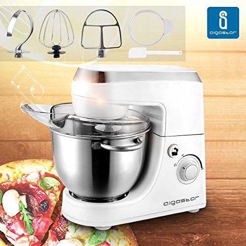 Aigostar-Piccolo-Mamma-White-30HMA-Robot-de-cocina-Mezcladora-Amasadora-Batidora-Color-blanco-Libre-de-BPA