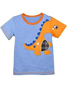 Okidso T-shirt Bambini Maglietta Bello dei Ragazzi Maglietta Pura Cotone Maglietta dei Bambini con Stampa Sveglia