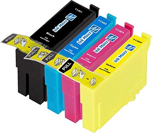 Ink Maxx Bündel von 4 Tintenpatronen T1306 XL für Epson Stylus Office B 42 WD BX 320 FW 525 535 625 FWD 630 635 925 935 SX 525 535 620 Workforce WF 3010 DW 3520 DWF 3530 DTWF 3540 7015 7515 7525