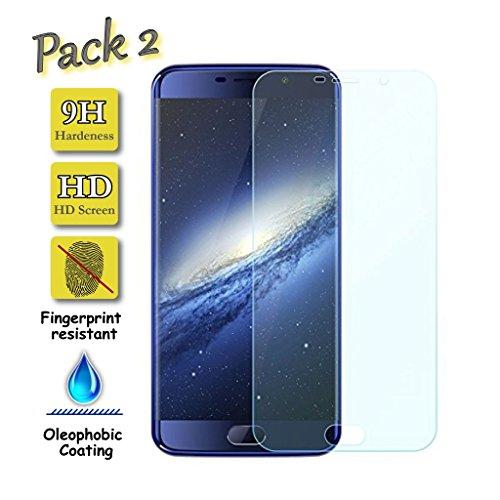 [Pack de 2] Funnytech@ Protector de Pantalla Cristal Templado para Elephone S7...