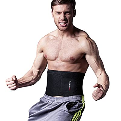 Youngdo Waist Trimmer Waist Trainer Belt [Upgraded Version] Fitness Ab Slimmer Belt for Weight Loss Belly Fat Burner for Men and Women from Shenzhen Amymore E-commerce Limited