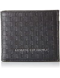 1717a6325 Armani ExchangeLogo Coin CaseHombreCarterasNegro (Black Check)9x1x11  centimeters (B x H x T