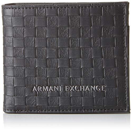 1127a482c2 ARMANI EXCHANGE Logo Coin Case - Portafogli Uomo, Nero (Black Check), 9x1x11