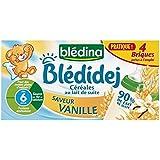 Blédina Bledijej brique de lait et céréales saveur vanille 4x250ml dés 4 mois - ( Prix Unitaire ) - Envoi Rapide...