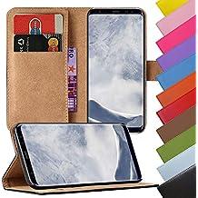 eximmobile–Book Case Funda Móvil para Samsung Galaxy en 11colores con tarjeta Compartimiento | funda de piel sintética | funda como funda Flip Case Cover | funda | funda de piel sintética