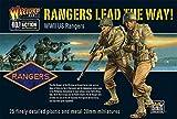 Kriegsherr GB-A2 - WW2 US Rangers 28mm Figuren - Bolzen Aktion - 25x 1/56 Wargaming-Minaturen