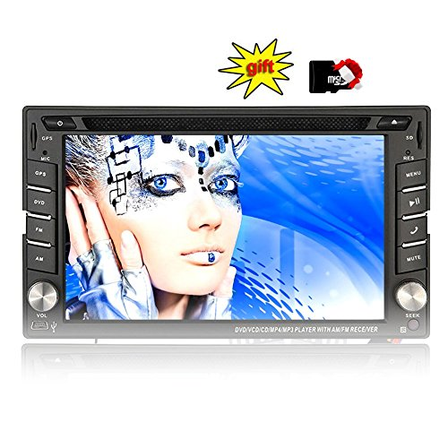 Eincar XM-2DTSBN6216 GPS Autoradio / in Dash-Radio Stereo / Head Unit Auto-Player mit 8 GB GPS-Navigation + NAVI-Software inkl. Europa-Karten (38 Länder) + Autoradio Bluetooth Freisprecheinrichtung 6.2 Zoll Touch Screen + USB / SD + AUX + 2 DIN Universal-Auto-DVD-Player (Doppel-DIN)
