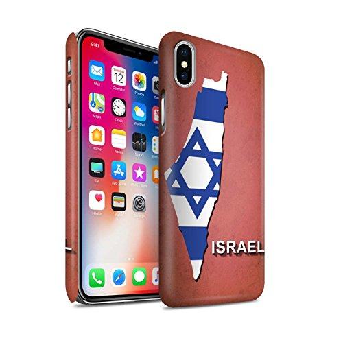 STUFF4 Matte Snap-On Hülle / Case für Apple iPhone 7 Plus / Deutschland/Deutsch Muster / Flagge Land Kollektion Israel/Israelischen