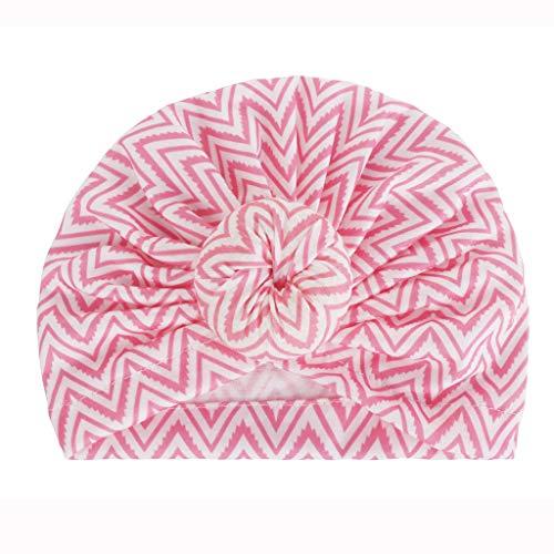 Junge Band Perücke (Lazzboy Unisex-Mode Neugeborenen Mädchen Jungen gedruckt Knoten säumen Beanie Hut Kappe (G))