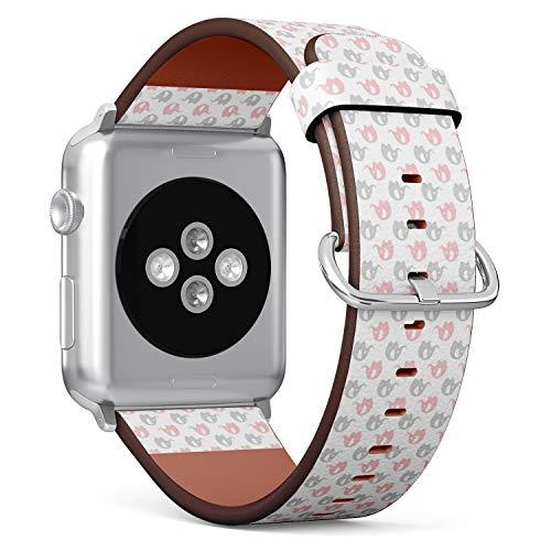 mysticband para Apple Watch 42mm/44mm de Piel Correa Correas De Repuesto Pulsera...