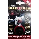 E-Tech LED rojo intermitente - Alarma ficticias para disuadir a los ladrones - Uso En coche Van barco, etc.