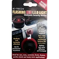 E-Tech Rouge clignotant LED–Dummy Alarme pour Dissuader les voleurs–Utilisation en voiture van Bateau etc.