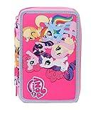 Seven My Little Pony 3C1011602-382 Astuccio per Scuola, 3 Scomparti, Poliestere, Multicolore
