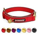 DOGNESS Reflektierende Hundehalsband, Verstellbarer Nylon Halsbänder, weiche Neopren-Polsterung, Patentierten Besonders Belastbaren Klickverschluss aus Metal für kleine mittlere große Hunde