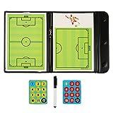 Fiturbo Taktiktafel Fußball Coach Board Coach-Mappe Taktikmappe für Fußball mit Magnet, Stift mit Radiergummi