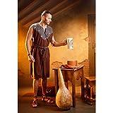 Disfraz o túnica marrón Medieval para hombre