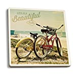 Chadwick-Beach, New Jersey – Life is a beautiful Ride – Beachcruiser, keramik, mehrfarbig, 4 Coaster Set