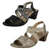 Ladies Remonte X Strap Heeled Sandals - R9272